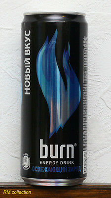 Burn 2015 energy drink Russia 0,33L can empty