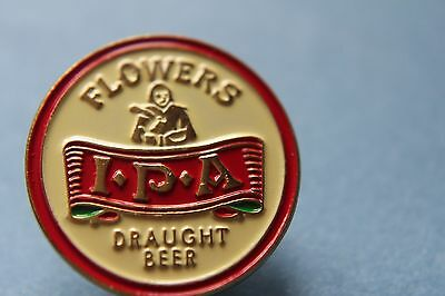 Brewery Badge Flowers Ipa .draught Beer Pin Badge