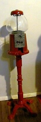 Classic Vintage Candy Gumball Machine With Cast Iron Stand Excellent Condition