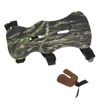 Hunting Shooting Archery Bow String Finger Protector Guard Tab + Arm Guard