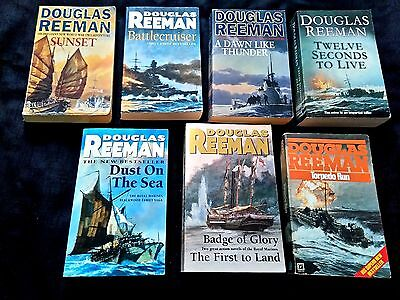 8 x Douglas Reeman - Sea War Fiction Novels ( 7 Paperbacks )