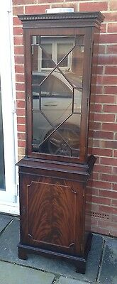 Flame Mahogany Astral Glazed Display Cabinet