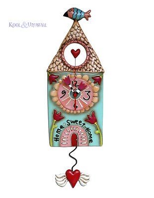 "Gorgeous ""Home Sweet Home"" Cottage House Designer Wall Clock by Allen Designs"
