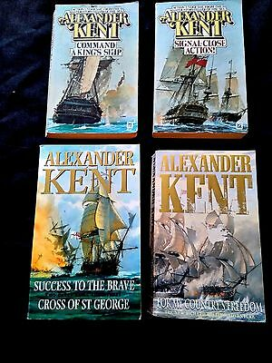 5 x Alexander Kent - Sea Fiction Novels ( 4 Paperbacks )
