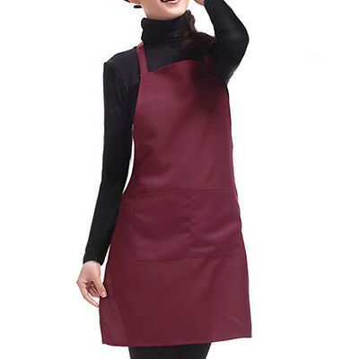 Plain Apron with Front Pocket for Chefs Butchers Kitchen Cooking Craft Baking HJ