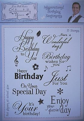 Sentimentally Yours CLEAR RUBBER STAMP SET Inkspirational Birthday Sentiments