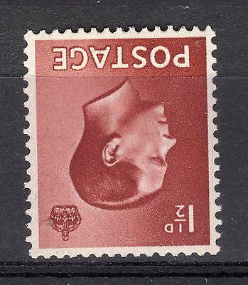 Edward VIII 1936 SG 459Wi 1 1/2d Red Brown Inverted Watermark MNH