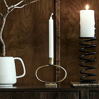 Circle Brass Candle Holder