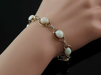 Gorgeous 14K Yellow Gold And Opal Bracelet