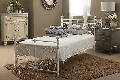SIENNA 3ft + 4ft METAL BED in WHITE with a choice of MATTRESSES