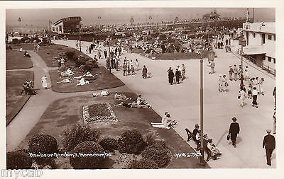 Postcard Morecambe Lancashire early view of Harbour Gardens RP by Matthews