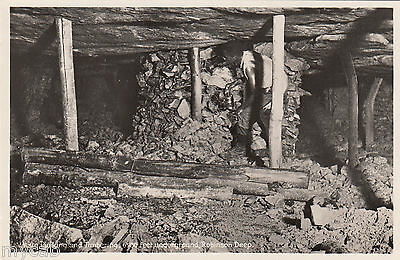 Postcard South Africa mining Timbering 6500 feet underground Robinson Deep RP