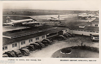 Postcard Shannon Airport Rineanna Ireland vintage aeroplanes RP