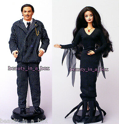 Addams Family Morticia Gomez NO BOX Just Removed from Box Barbie Ken Doll Lot 2