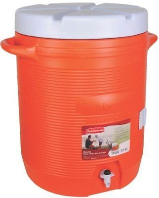 New Rubbermaid 11610-01-11 Large 10 Gallon Commercial Sport  Water Cooler Usa