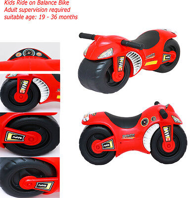 Kids Motorbike Balance Bike Toddler Motorcycle Car Walker Push Along Ride On