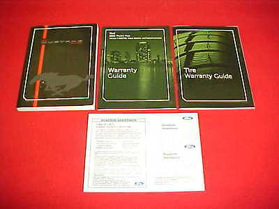 2012 Original New Ford Mustang Owners Manual Service Guide Kit 12 Glovebox Paper