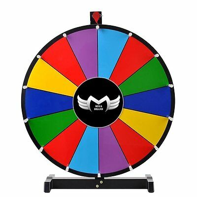 "24"" Tabletop Spinning Prize Wheel 14 Slots Color Dry"