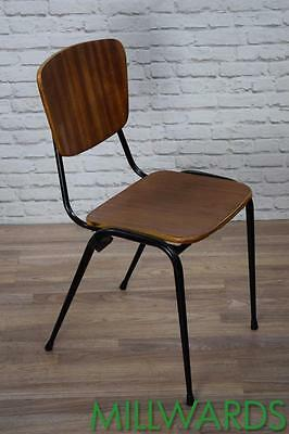 Vintage Industrial Stackable Teak Cafe Bar Chairs 100 AVAILABLE (inc VAT)
