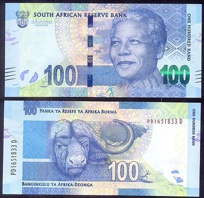 SOUTH AFRICA 100 Rand 2015/2016 P136 new sign. Lesetja Kganyago   UNC