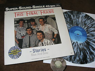 """12"""" LP This Final Frame Stories Blue and Grey Italo Disco Germany 1985  