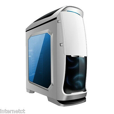 AVP VENOM WHITE USB 3.0 ATX mATX COMPUTER TOWER CASE WITH SIDE WINDOW & BLUE LED
