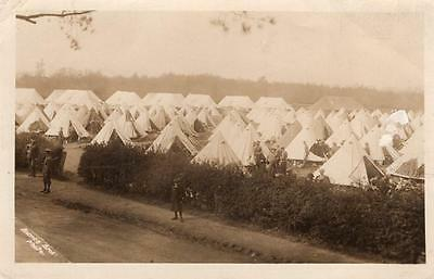 WW1 Soldiers at Camp RP Postcard British Army
