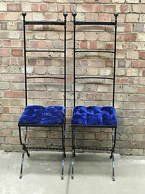 Pair of Antique Wrought Iron Garden PationChairs