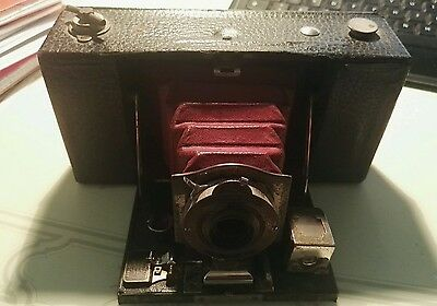 Antica Macchina Fotografica Kodak Folding Pocket Brownie Automatic Usa 1907