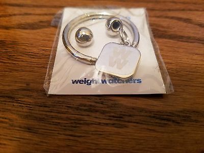 Weight Watchers 4 Week Attendance Celebration Silver Key Ring with Charm