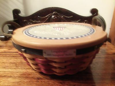 longaberrger 2005 inaugural basket with protector and liner very nice