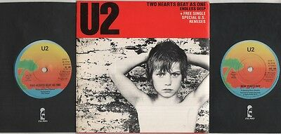 """U2 Two Hearts Beat As One  7"""" Ps, Double Pack, Orig 1983 Ltd Edition, 4 Tracks I"""