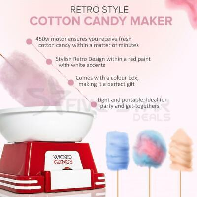 Red Cotton Sugar Candy Floss Maker Machine Red Electric Portable Home Party