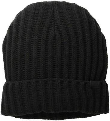 Levi s Men 2X2 Ribbed Cuff Beanie Black Hat One Size Style 44LV040007 3a5af325798