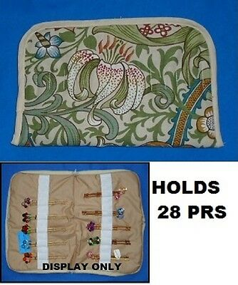 No. 1.  Small Padded Zip Bobbin Bag Holds 28 Prs Bobbins  Safely & Securely