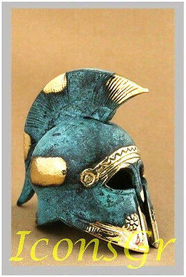 Ancient Greek Bronze Museum Replica Vintage Spartan Infantry Battle Helmet 300