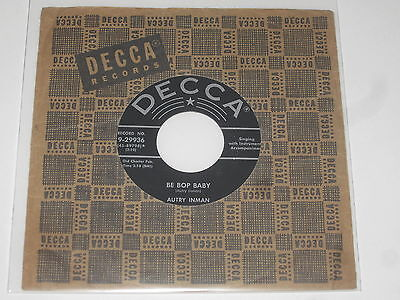 """7""""  Auntry Inman – Be Bop Baby"""