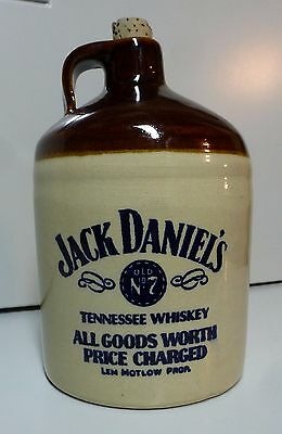 Jack Daniels Old No. 7 Tennessee Whiskey Stoneware Jug With Cork