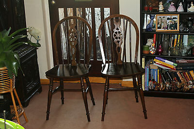 2 Vintage Ercol Style Dining Chairs