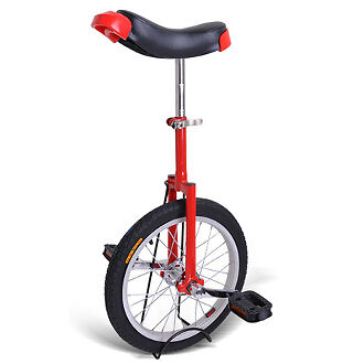 20 Inch Unicycle Wheel Frame- Red