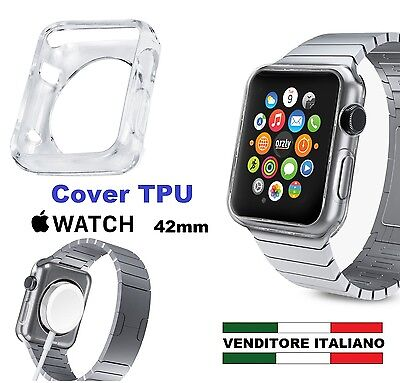 COVER TPU per APPLE WATCH 42mm display touch i-watch custodia sport edition gel