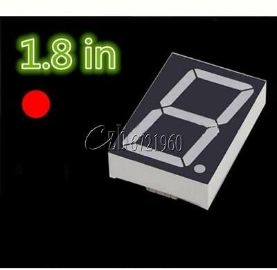 NEW 1.8 inch 1 Digit Red Led Display 7 segment Common Cathode