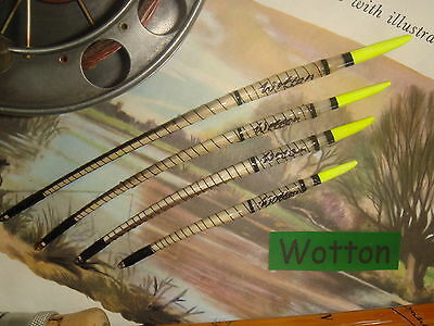 Traditional Handmade Goose Quill Fishing Float Set - Yellow