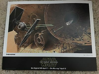 Star Wars:The Force Awakens SXSW Exclusive 2016 Lithograph Set by Doug Chiang.