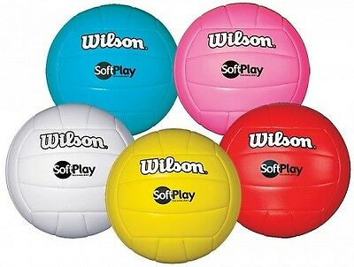 NEW Wilson SoftPlay Indoor Outdoor Volleyball Syn Leather Official Size - Colors
