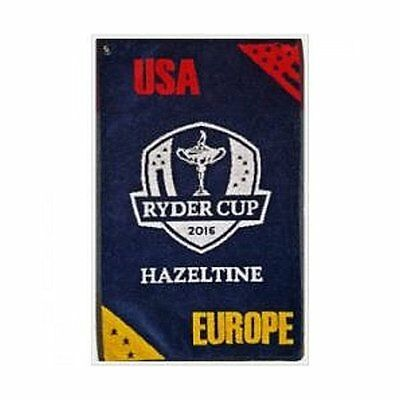 """2016 Ryder Cup Deluxe Woven Golf Towel Navy 16""""x24"""""""