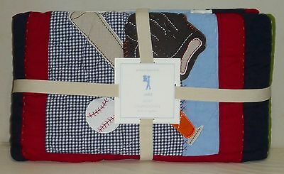 POTTERY BARN KIDS Jake Sports TWIN Quilt, NEW