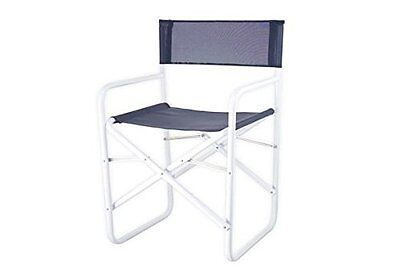 Bica Ciack Director's Chair, Fabric, Metal, Blue/White