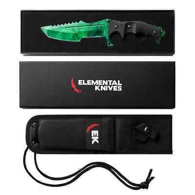 Elemental Knives Emerald Real Huntsman CSGO Knife Skin Counter Strike CS