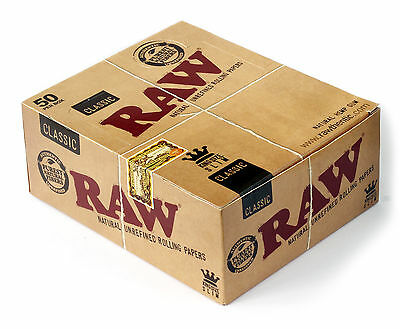 RAW Classic King Size SLIM unrefined rolling paper - 1 box - 1600 papers